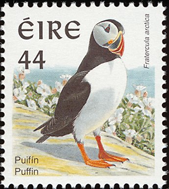 Irish Puffin Postage Stamp