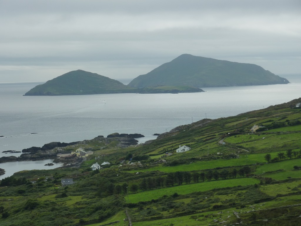 A distant view of Deenish with Scariff behind
